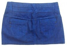 Next sexy dark electric blue short hipster micro mini skirt 1960s mod style 10