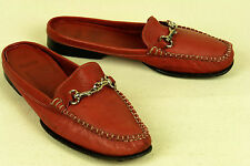 COACH * ITALY * CLASSIC LOAFER/MULE IN A SUPPLE RED LEATHER * 6 B * EXCELLENT