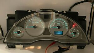 2002-2004 BUICK RENDEZVOUS USED DASHBOARD INSTRUMENT CLUSTER FOR SALE (MPH)
