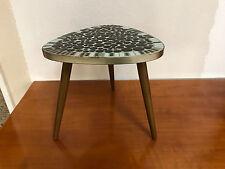 Nierentisch Blumenhocker Beistelltisch Marmor Mosaik Tisch Mid Century 50 er kul