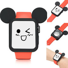 Cartoon Mickey Mouse Soft Silicone Protective Case for Apple Watch Series 4 40mm