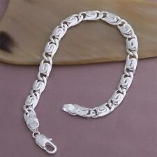Fashion nice noble solid silver chain cute Beautiful men women bracelet Jewelry