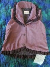 NWT 7 Persnickity Alice Purple Ruffle Vest