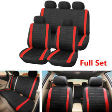 9Pcs Car Interior Seat Cover Full Set Front Rear Seat Cushion For Four Seasons