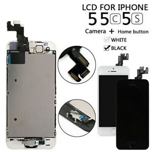 Full Replacement for iPhone 5 5C5S LCD Touch Screen Digitizer+Home Button&Camera