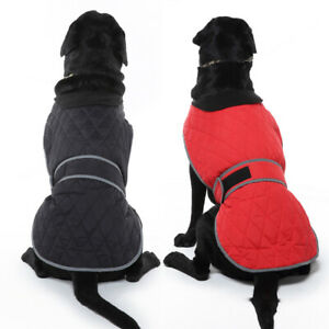 Dog Winter Coat with Harness Hole Warm Jacket Vest Waterproof Pet Clothes S-2XL