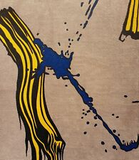 Roy Lichtenstein, Brushstroke with Spatter 1966, Hand Signed Lithograph A.P.