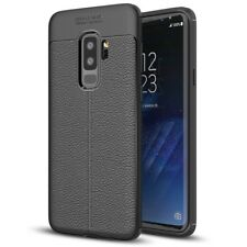 Samsung Galaxy S9 Plus Leder Look Handy Hülle von NALIA, Slim Silikon Case Cover