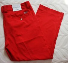 Calvin Klein Womens 3/4 Trousers Pants Red Size 12