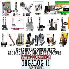 ENTERTECH MAGIC SING KARAOKE MIC TAGALOG 11 Videoke Song Chip Xtreme 1