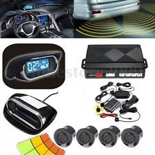 Car LED Display 4 Parking Sensor Rear View Reverse Backup Front Radar System Kit