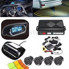 Car LED Display 4 Parking Sensor Rear View Reverse Backup Front Radar System Kit