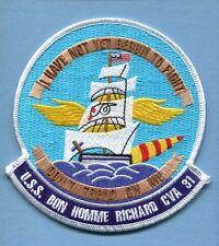 CVA-31 CV-31 USS BON HOMME RICHARD US Navy Aircraft Carrier Ship Squadron Patch