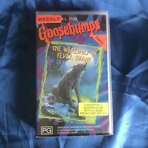 R.L. Stine Goosebumps - The Werewolf Of Fever Swamp - VHS Video Tape Vintage