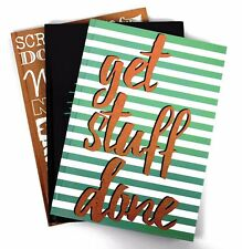 A4 Hardback Notepad Pad - Book 80gsm Lined  Page Paper Notebook