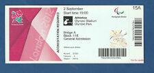 Orig.Ticket   Paralympics LONDON 2012 - LEICHTATHLETIK 02.09. / 20 Finals !! TOP
