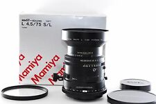 MAMIYA SHIFT L 75mm f/4.5 S/L lens for RB67 for SD from Japan [NEAR MINT]