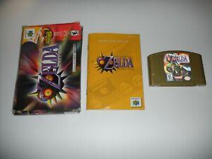 Zelda Majora's Mask  Hologram COMPLETE BOX  - NINTENDO 64 -  625a