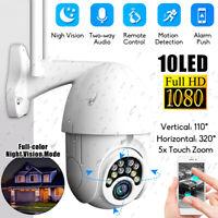5X Zoom Pan Tilt 1080P FHD Security IP IR Camera Outdoor Waterproof Night Vision