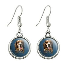 Hunt Dangling Drop Earrings Stock and Barrel Outfitters Beagle