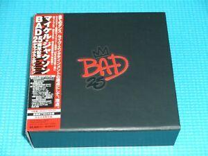MICHAEL JACKSON 3CD+DVD Box Set Bad 25th Delux Edition w/Poster Japan OBI