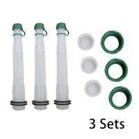 Replacement Fuel Spout Set Spout&Parts Cap For Rubbermaid Gott Jerry Fuel