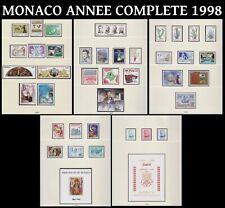 MONACO 1998 SUPERBE ANNEE COMPLETE Neuve** TP+Ses 2 Blocs VENDUE SOUS PRIX POSTE