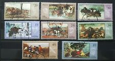 1968 Set Of 8 Polish Stamps - Hunt Paintings -Pre Cancel MNH Poland