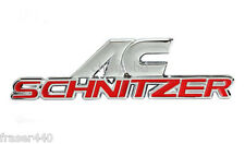 AC SCHNITZER RED/CHROME METAL BADGE/EMBLEM/DECAL/STICKER FREE UK P&P