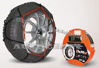 Tyre TUV Approved 9mm Snow Chains 135/80 R15 + Hi-Viz Vest,Gloves & Mat-A3