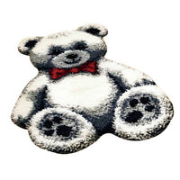 Toy Bear Latch Hook Kit Rug Cushion DIY Craft Needle Embroidery For Beginner