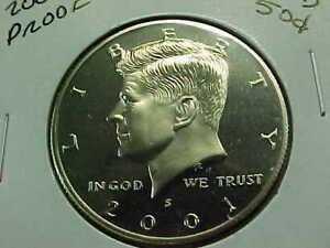 2001 S  PROOF KENNEDY HALF DOLLAR