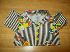 """BOYS STRIPES STRIPED SHIRT TRAIN ENGINEER for 16-17"""" CPK Cabbage Patch Kids"""