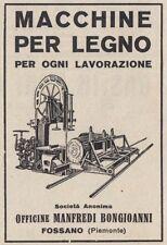 Z3524 Macchine per legno Manfredi Bongioanni - Fossano - Pubblicità - 1929 ad