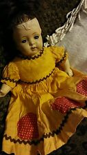 ANTIQUE BABY TOY DOLL Genuinely Scary Antique Creepy RARE Oddity Baby Girl