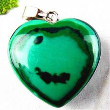 BA5669 20x6mm Beautiful heart Malachite pendant bead