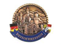 Neuschwanstein Schloss rund Metall Magnet Souvenir Deutschland Germany (19)