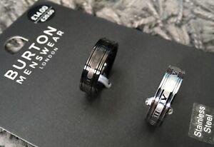 Burton Stainless Steel Men's Ring (two pack)