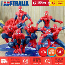 7x Spiderman Action Figures Toy Cake Topper Display Figurine Set Decor Gift AU