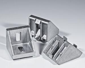 10 Stück Winkel 45 x 45 Nut 10 mit Befestigungssatz Typ Bosch Aluprofil Nut 10