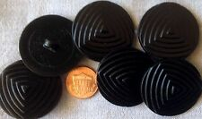 matt finish 30 x flat black plastic shank buttons 23mm non-shiny