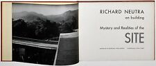 1951 Richard Neutra SITE MYSTERY + REALITIES Julius Shulman Modern Architecture