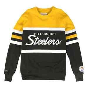 Pittsburgh Steelers Mitchell & Ness NFL Men's Head Coach Crew Sweatshirt