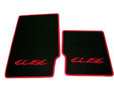 Black velours floor mats for Lotus Elise MK1  1996-2000 RHD Logo red