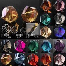 72Pcs DIY Crystal Glass Space Beads Helix Fit Necklace Bracelet Making 8mm