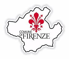 Comune Di Firenze Map Flag City Sticker for Bumper Laptop Tablet Helmet Toscana