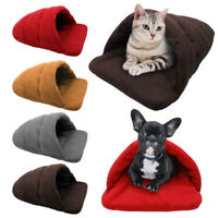 Soft Cozy Pet Cat Dog Winter Bed Cave House Puppy Nest Mat Kennel Sleeping Tent