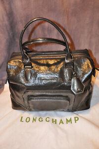 Longchamp Legende large patent leather Handbag/Purse/Doctors bag