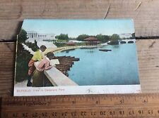 Vintage Antique Post Card , View In Delaware Park , Buffalo NY