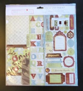 NEW SCRAPBOOKING BEST OCCASIONS STEP BY STEP PAGE KIT